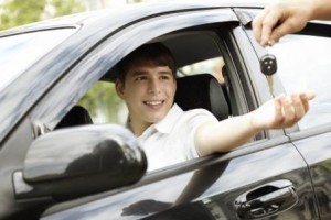 Teenager getting car keys